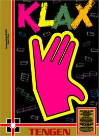 Box cover for Klax on the Nintendo NES.