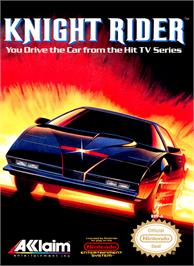Box cover for Knight Rider on the Nintendo NES.