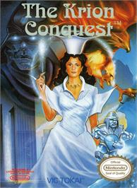 Box cover for Krion Conquest on the Nintendo NES.