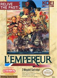 Box cover for L'Empereur on the Nintendo NES.