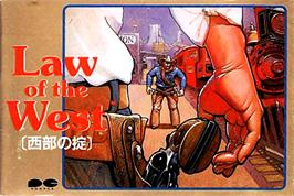 Box cover for Law of the West on the Nintendo NES.