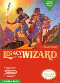 Box cover for Legacy of the Wizard on the Nintendo NES.