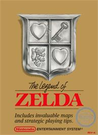 Box cover for Legend of Zelda on the Nintendo NES.