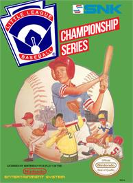 Box cover for Little League Baseball Championship Series on the Nintendo NES.