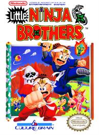Box cover for Little Ninja Brothers on the Nintendo NES.