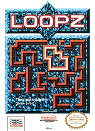 Box cover for Loopz on the Nintendo NES.