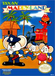 Box cover for Mappy Land on the Nintendo NES.