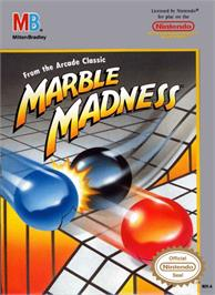 Box cover for Marble Madness on the Nintendo NES.