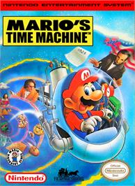 Box cover for Mario's Time Machine on the Nintendo NES.