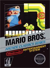 Box cover for Mario Bros. on the Nintendo NES.
