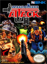 Box cover for Mechanized Attack on the Nintendo NES.