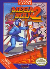 Box cover for Mega Man 2 on the Nintendo NES.