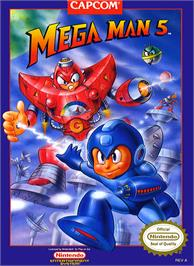 Box cover for Mega Man 5 on the Nintendo NES.