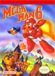 Box cover for Mega Man 6 on the Nintendo NES.