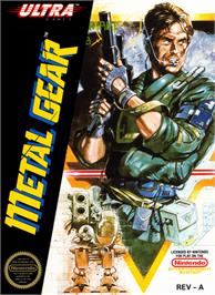 Box cover for Metal Gear on the Nintendo NES.
