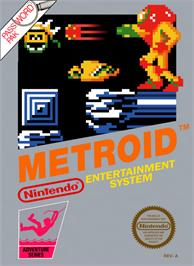 Box cover for Metroid on the Nintendo NES.