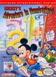 Box cover for Mickey's Adventures in Numberland on the Nintendo NES.