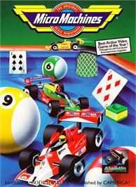 Box cover for Micro Machines on the Nintendo NES.