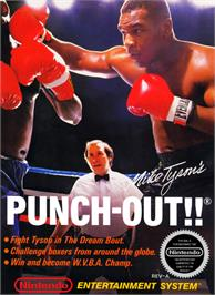 Box cover for Mike Tyson's Punch-Out!! on the Nintendo NES.