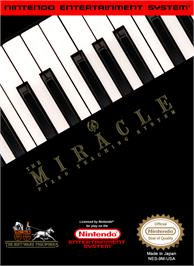 Box cover for Miracle Piano Teaching System on the Nintendo NES.