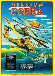Box cover for Mission Cobra on the Nintendo NES.