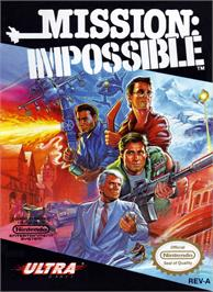 Box cover for Mission Impossible on the Nintendo NES.