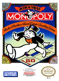 Box cover for Monopoly on the Nintendo NES.