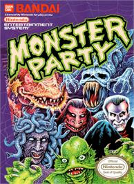 Box cover for Monster Party on the Nintendo NES.