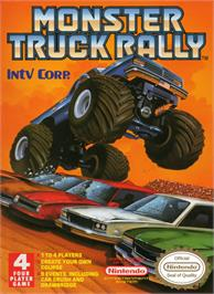 Box cover for Monster Truck Rally on the Nintendo NES.