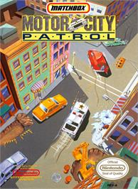Box cover for Motor City Patrol on the Nintendo NES.