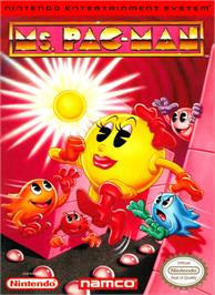 Box cover for Ms. Pac-Man on the Nintendo NES.