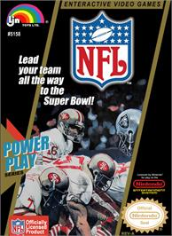 Box cover for NFL on the Nintendo NES.