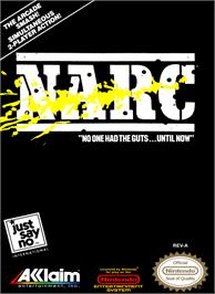 Box cover for Narc on the Nintendo NES.