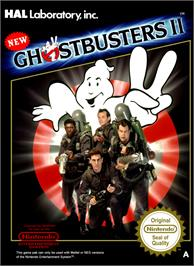 Box cover for New Ghostbusters 2 on the Nintendo NES.