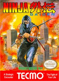 Box cover for Ninja Gaiden on the Nintendo NES.