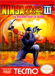 Box cover for Ninja Gaiden III: The Ancient Ship of Doom on the Nintendo NES.