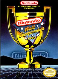 Box cover for Nintendo World Championships 1990 on the Nintendo NES.