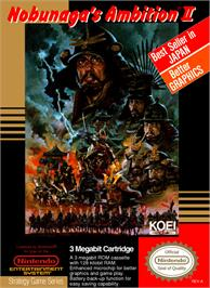 Box cover for Nobunaga's Ambition 2 on the Nintendo NES.