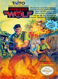 Box cover for Operation Wolf on the Nintendo NES.