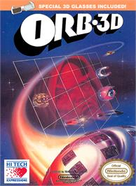 Box cover for Orb-3D on the Nintendo NES.