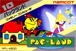 Box cover for Pac-Land on the Nintendo NES.