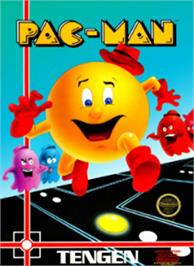 Box cover for Pac-Man on the Nintendo NES.
