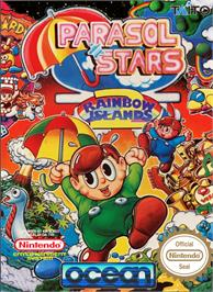 Box cover for Parasol Stars: The Story of Bubble Bobble 3 on the Nintendo NES.