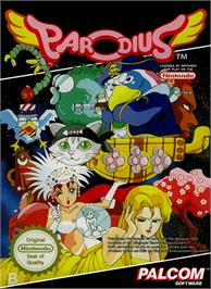 Box cover for Parodius on the Nintendo NES.