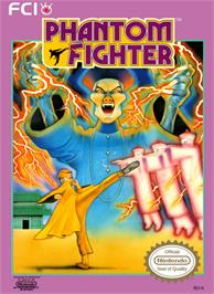 Box cover for Phantom Fighter on the Nintendo NES.