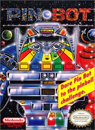 Box cover for PinBot on the Nintendo NES.