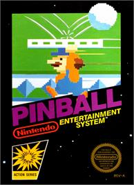 Box cover for Pinball on the Nintendo NES.