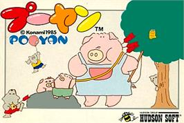 Box cover for Pooyan on the Nintendo NES.