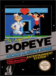 Box cover for Popeye on the Nintendo NES.