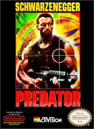 Box cover for Predator: Soon the Hunt Will Begin on the Nintendo NES.